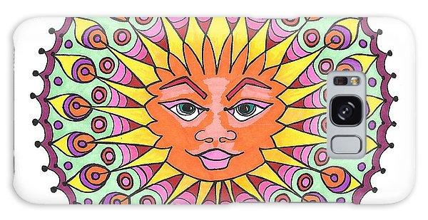Peacock Sunburst Galaxy Case