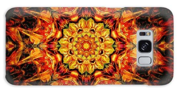 Mandala Of The Sun In A Dark Kingdom Galaxy Case
