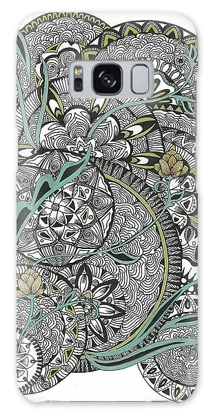 Mandalas With Gold Flowers Galaxy Case