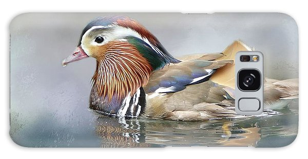 Mandarin Duck Swimming Galaxy Case