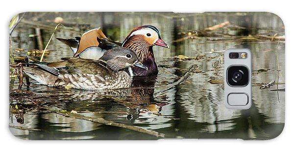 Mandarin Ducks The Couple Galaxy Case by Torbjorn Swenelius