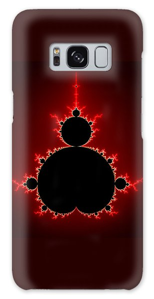 Mandelbrot Set Black And Red Square Format Galaxy Case