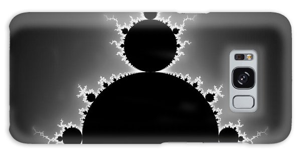 Mandelbrot Set Black And White Fractal Art Galaxy Case