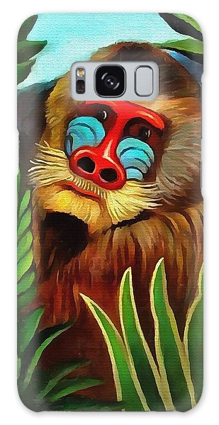 Mandrill In The Jungle Galaxy Case