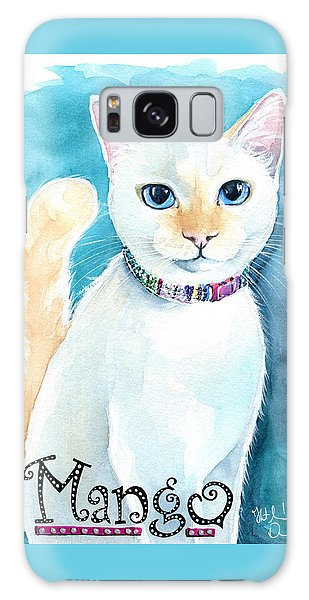 Mango - Flame Point Siamese Cat Painting Galaxy Case