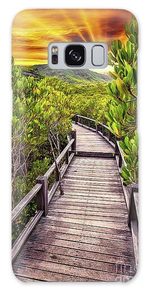 Board Walk Galaxy Case - Mangrove Forest Sunset by Adrian Evans