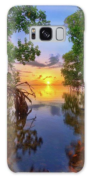 Mangrove Sunset From Jensen Beach Florida Galaxy Case by Justin Kelefas