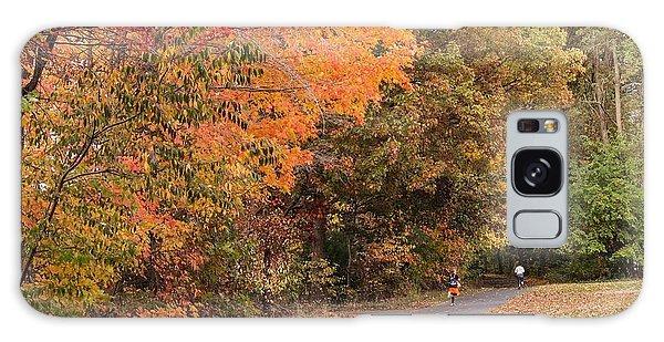 Manhan Rail Trail Fall Colors Galaxy Case