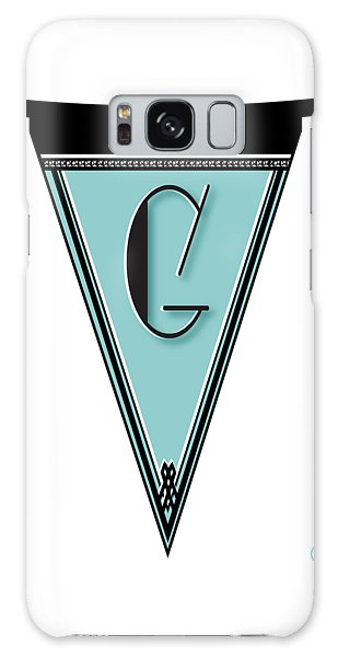 Pennant Deco Blues Banner Initial Letter G Galaxy Case