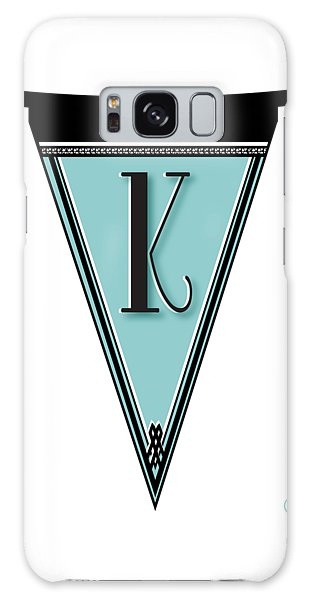 Pennant Deco Blues Banner Initial Letter K Galaxy Case