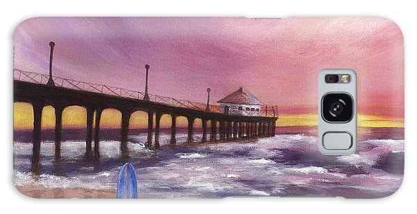 Manhattan Beach Pier Galaxy Case by Jamie Frier