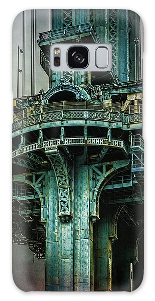 Galaxy Case featuring the photograph Manhattan Bridge Tower by Chris Lord