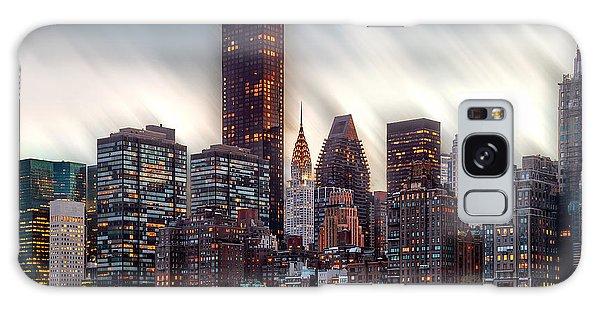 Manhattan Daze Galaxy Case by Az Jackson
