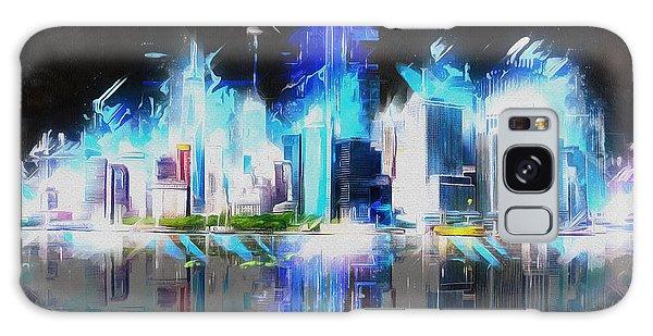 Manhattan Downtown Lights Galaxy Case by Kai Saarto