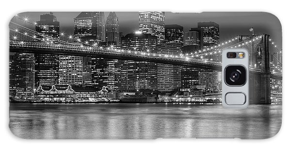 Manhattan Night Skyline Iv Galaxy Case by Clarence Holmes