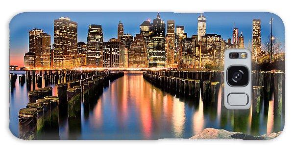 East Galaxy Case - Manhattan Skyline At Dusk by Az Jackson