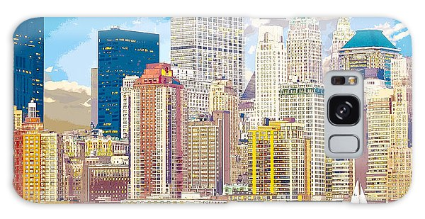 Manhattan Skyline New York City Galaxy Case