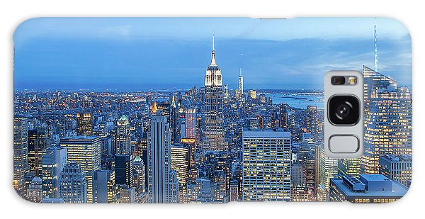Empire State Building Galaxy S8 Case - Manhattan Skyline New York City by Az Jackson