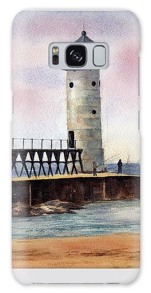 Manistee North Pierhead Light Galaxy Case