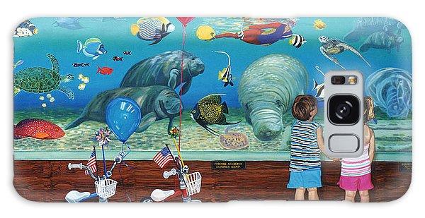Manitee Aquarium With My Twins Galaxy Case by Bonnie Siracusa