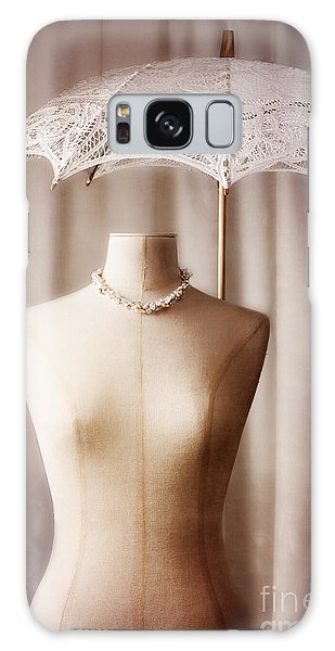 Mottled Galaxy Case - Mannequin With Parasol by Amanda Elwell