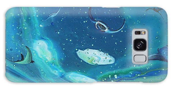 Galaxy Case featuring the painting Manta Ray Ohana by Darice Machel McGuire