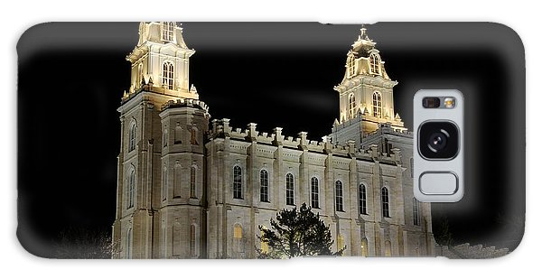 Manti Temple Night Galaxy Case