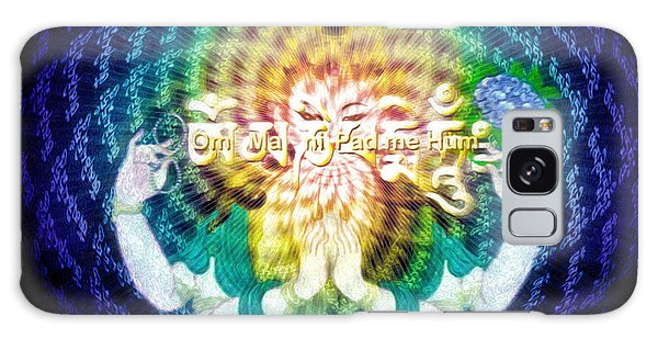 Mantra Of Compassion Galaxy Case by Robby Donaghey