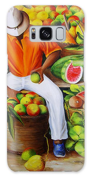 Manuel The Caribbean Fruit Vendor  Galaxy Case