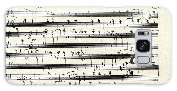 Schubert Galaxy Case - Manuscript Score For A Waltz By Franz Schubert by Franz Schubert