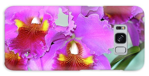 Many Purple Orchids Galaxy Case by Lehua Pekelo-Stearns