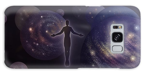 Galaxy Case featuring the painting Many Worlds by Amyla Silverflame