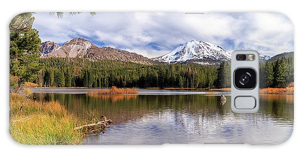 Galaxy Case featuring the photograph Manzanita Lake - Mount Lassen by James Eddy