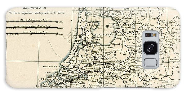 Engraving Galaxy Case - Map Of Holland Including The Seven United Provinces Of The Low Countries by Guillaume Raynal