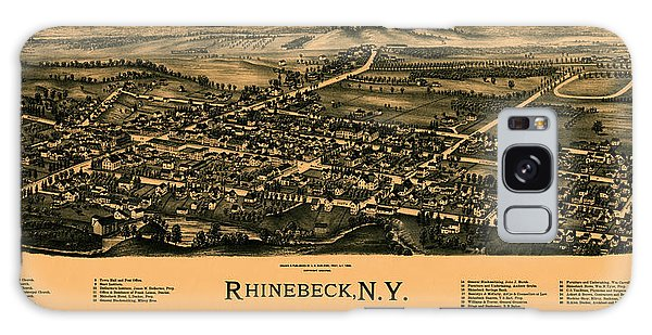 Map Of Rhinebeck 1890 Galaxy Case