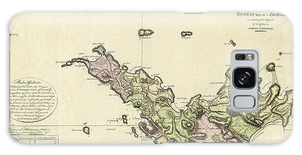 Map Of Saint Barts 1801 Galaxy Case