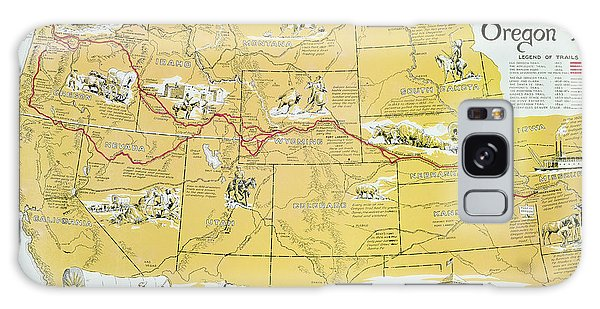 Cart Galaxy Case - Map Of The Old Oregon Trail by American School