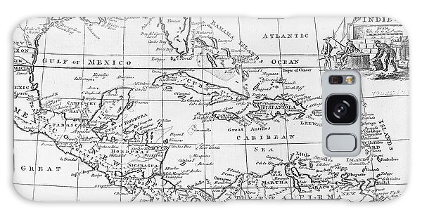 Old Florida Galaxy Case - Map Of The West Indies Florida And South America by English School