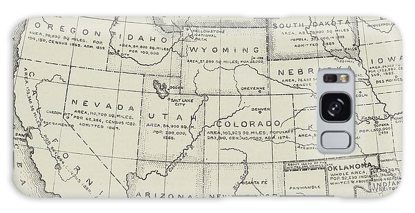 Mexican Galaxy Case - Map Of The Western States Of America by English School