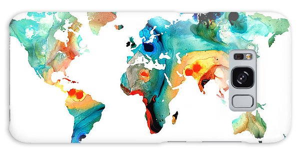 Map Of The World 11 -colorful Abstract Art Galaxy Case
