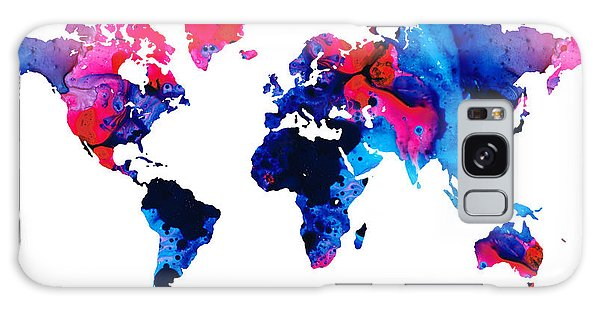 America Map Galaxy Case - Map Of The World 9 -colorful Abstract Art by Sharon Cummings