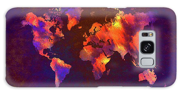 Map Of The World Art Galaxy Case
