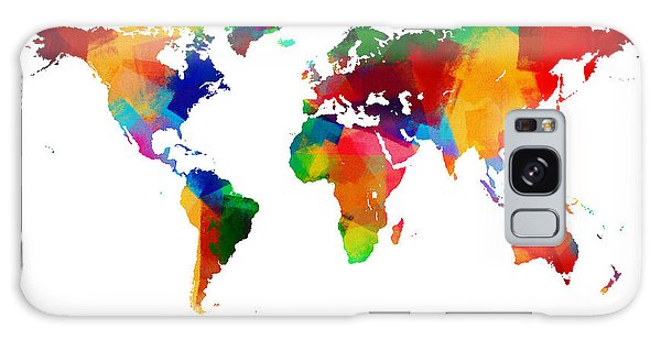 Map Of The World Map Painting Galaxy Case