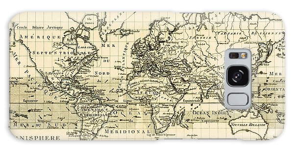 Engraving Galaxy Case - Map Of The World Using The Mercator Projection by Guillaume Raynal