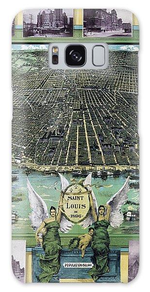 St Louis Mo Galaxy Case - Map St. Louis Missouri Pictorial Circa 1896 by Tina Lavoie