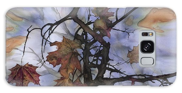 Maple Autumn Splash Galaxy Case by Carolyn Doe