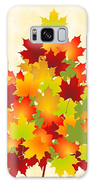Bright Galaxy Case - Maple Leaves by Anastasiya Malakhova