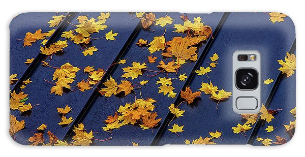 Maple Leaves On A Metal Roof Galaxy Case