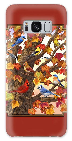 Maple Tree Marvel - Bird Painting Galaxy Case by Crista Forest