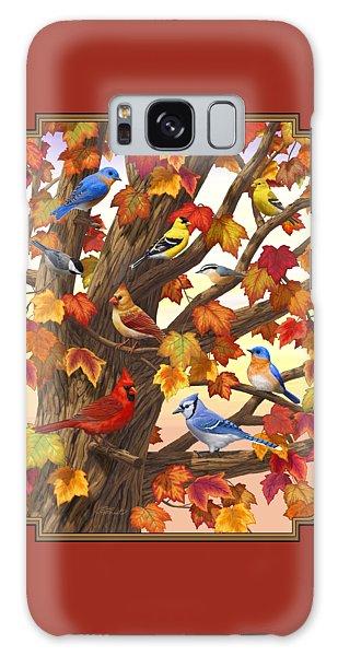 Maple Tree Marvel - Bird Painting Galaxy Case